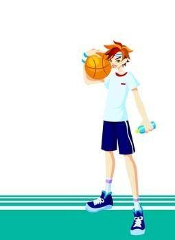 Basketball sport vector 2
