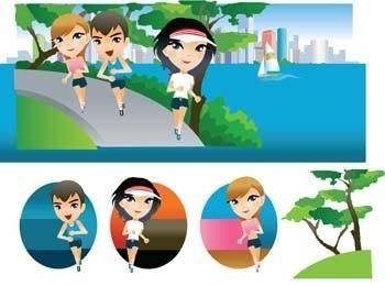 Running sport vector 7