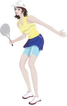 Tennis sport vector 6