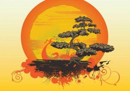 free vector Bonsai Tree Vector