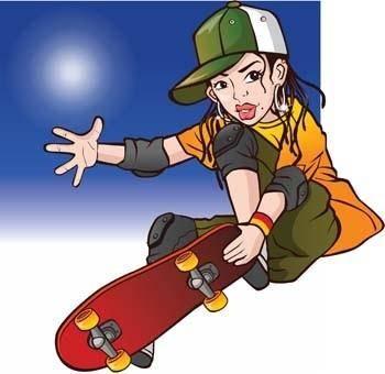 free vector Skateboarding vector 7