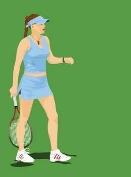 Tennis sport vector 1