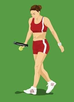 free vector Tennis sport vector 3