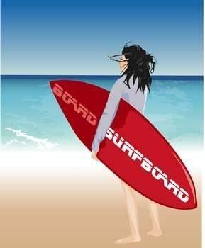 free vector Surfing sport vector 5