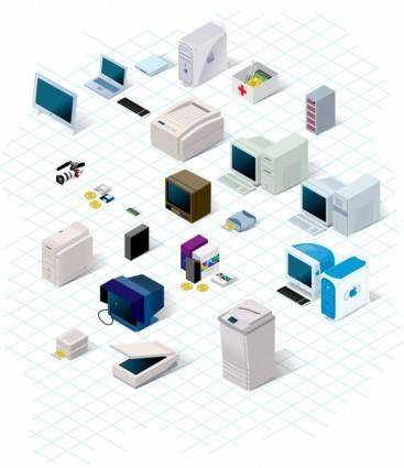 free vector Nineties Technology Vector