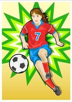 free vector Football vector 1