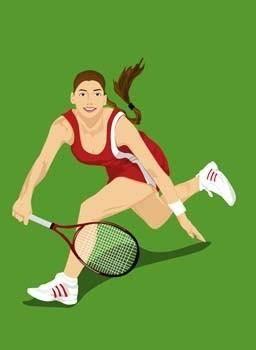 Tennis sport vector 4