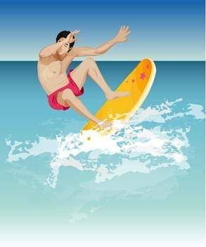 Surfing sport vector 3