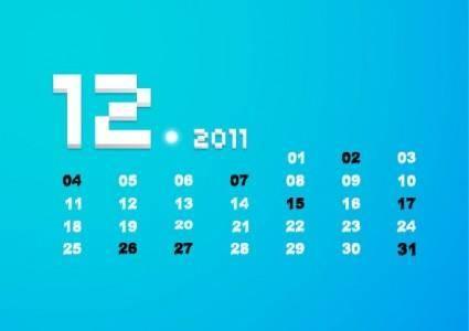 free vector December 2011 calendar vector