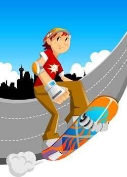 Skateboarding vector 6