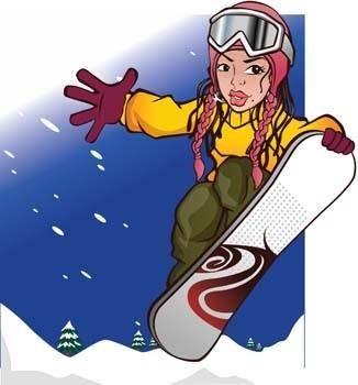free vector Snow boarding vector 12