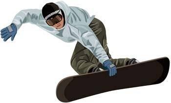 free vector Snow boarding vector 4