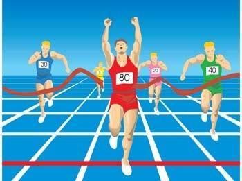 free vector Running sport vector 10