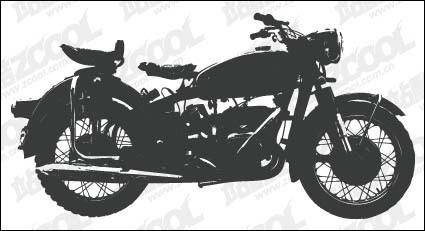 free vector Motorcycle silhouettes vector material