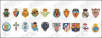 free vector Spanish soccer clubs LOGO