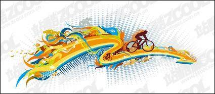 free vector The trend of cycling element vector material