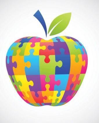 free vector Apple clip art puzzle