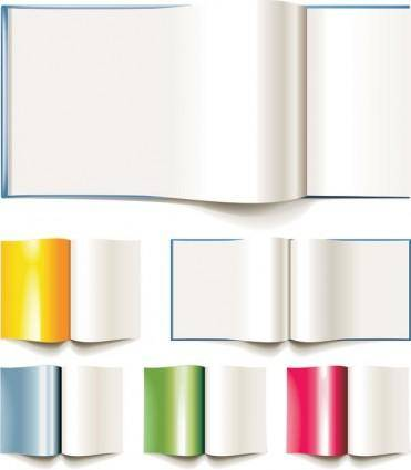 free vector Blank books clip art pictures