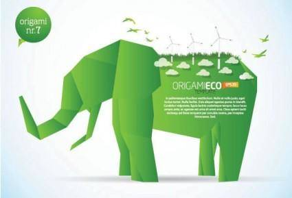 free vector Elephant clip art of paper