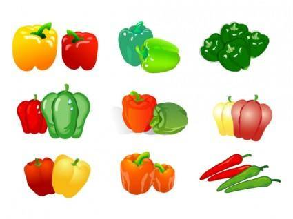 Vegetable clip art of two pepper