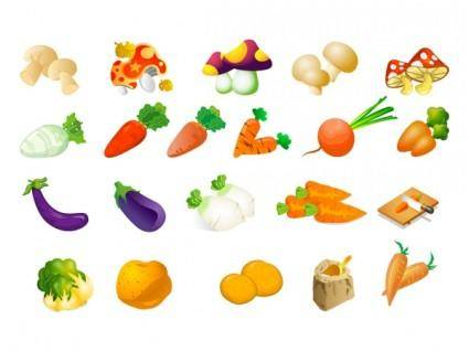 free vector Vegetable clip art of three