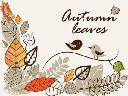 Autumn clip art illustrations 1