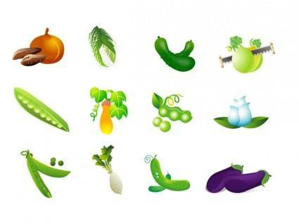 Vegetable clip art of four