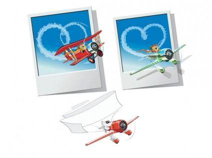 free vector Teddy bear clip art aircraft