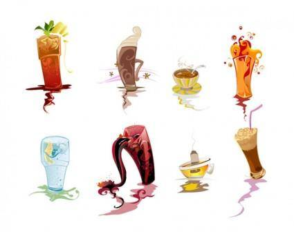 Beverage clip art illustrations
