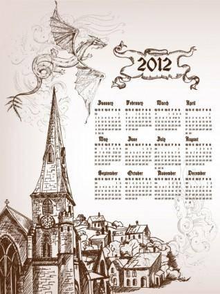 free vector Calendar 2012 calendar 03 vector