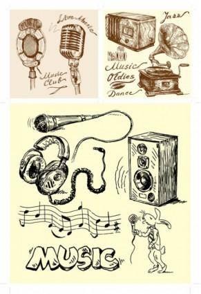 free vector Handdrawn clip art sound equipment