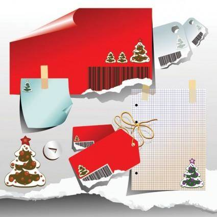 Christmas clip art of paper