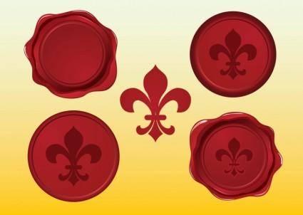 free vector Fleur de Lys Vector Seals
