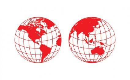 free vector Earth clip art papercut