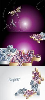 Fine jewelry dragonfly clip art and puzzles