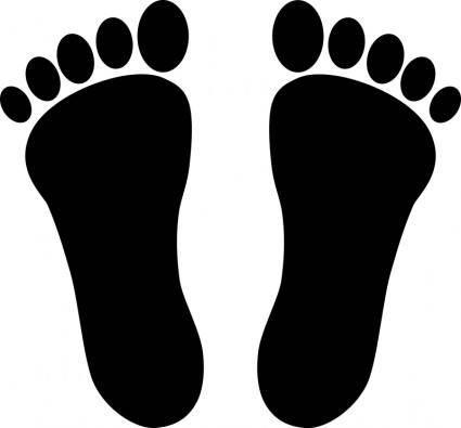 free vector Two footprints black
