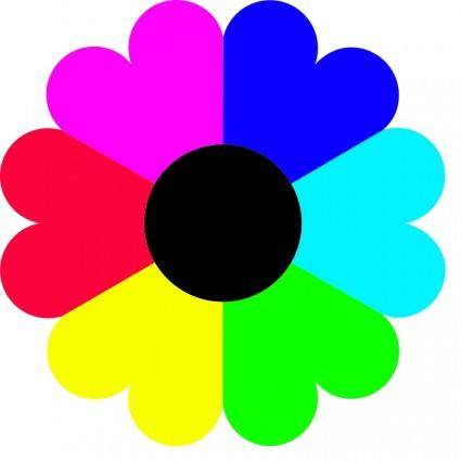 free vector Flower 7 colors