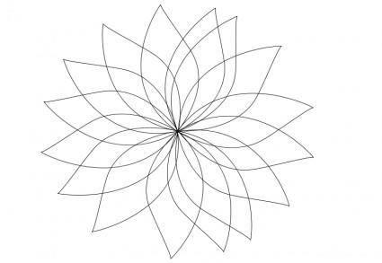 free vector Flower contour