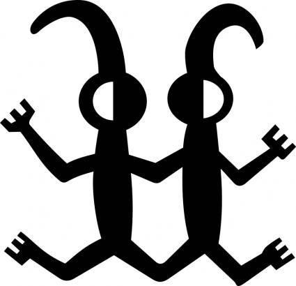 free vector Petroglyph Twins