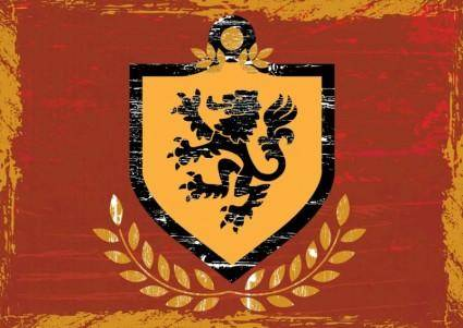 free vector Lion Shield Coat of Arms