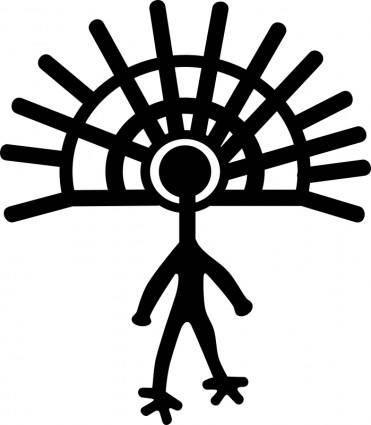 free vector Petroglyph Rayed figure