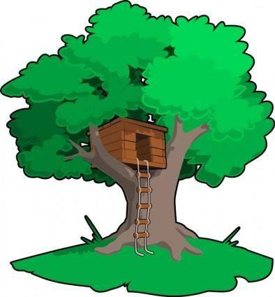 free vector Tree house