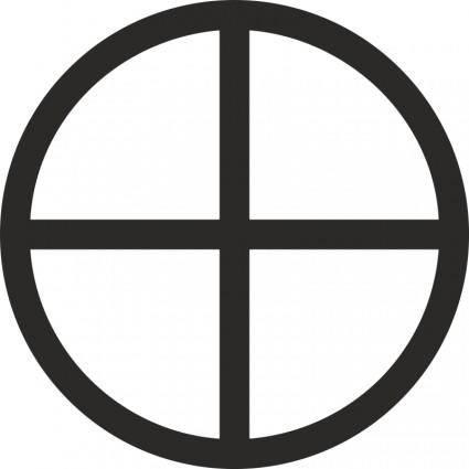 free vector Mundane Cross Encircled