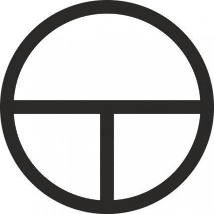 free vector Tau Cross Encircled