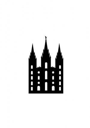 Salt Lake Temple Silhouette