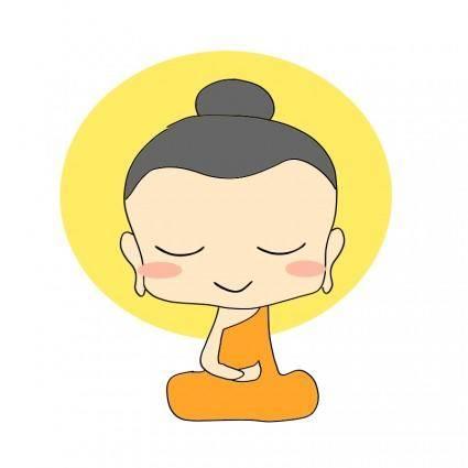 free vector Chibi buddha