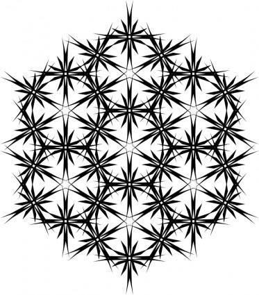 Muster 43dc Wabe aus Sternen - Endloskachel