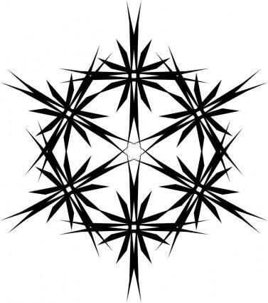 Muster 43db Stern aus sechs Sternen