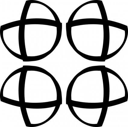 free vector Muster 43aa Vier DoppelDs - Endloskachel