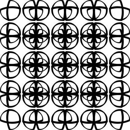 Muster 43a Viele dünne Ds - Endloskachel